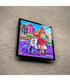 Print on plexiglass Girl with a scooter PGS.014 Amsterdam Souvenirs, Modern Art, Modern Design, Data Sheets, Online Painting, Online Gallery, Design Art, Original Paintings, Auction