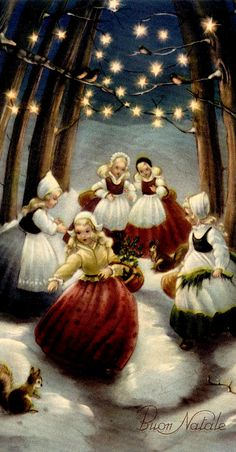 Love the dutch ladies under the lights!