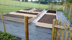 All six beds are built, filled with top soil and ready for planting. We just need the bark chippings to cover up the membrane.