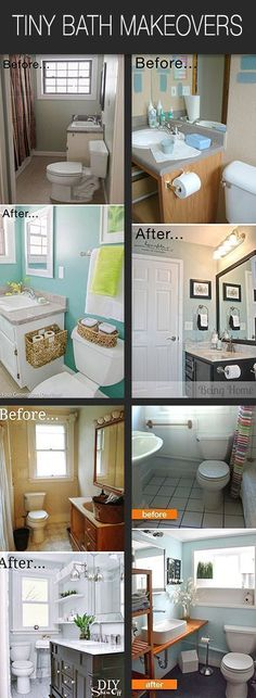 Got a tiny bath? Chances are, it's ready for a makeover. These bloggers have taken their tiny bathrooms and made them A.M.A.Z.I.N.G! Follow along with their DIY bathroom before and afters, and then plan to do one of these tiny bath makeovers! You can do this! #tinybathrooms