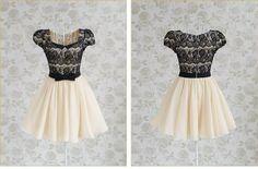 Nice qualidade& promoção para 30 dias!!! Moda feminina vestido bege vintage vestido com rendas e mangas