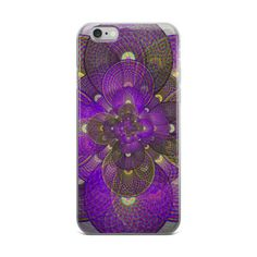 Cosmic Seed Purple Graphic iPhone Case
