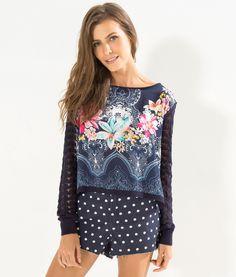 sweater mix caminho delicado