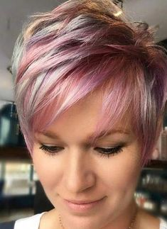 How To Know Which Short Haircut Is Right For You Nice short haircut on colored hair shortpurplehair Pixie Haircut For Thick Hair, Short Hair Undercut, Nice Short Haircuts, Short Highlighted Hairstyles, Short Pixie Hairstyles, Natural Hair Styles, Short Hair Styles, Short Trendy Hair, Short Short Hair
