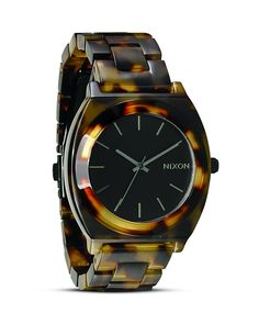 Nixon The Time Teller Acetate Tortoise shell Watch, 40mm | Bloomingdale's