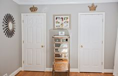 Hollie Hill Home Tour // his and hers // neutrals // jewelry hutch // sunburst mirror // photography by Tin Can Photography