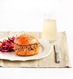 Slow Cooked Ginger Beer Pulled Pork on Brioche Buns with a Spicy Slaw by raspberri cupcakes, via Flickr