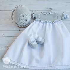 FALDONES Baby Girl Fashion, Kids Fashion, Angel Gowns, Baby Knitting Patterns, Flower Girl Dresses, Baby Dresses, Doll Clothes, White Shorts, Knit Crochet