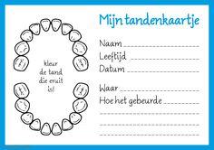 Tanden wisselen, leuk om bij te houden met deze #DIY tandenkaartjes #tandenboekje by @Printeressant @Lauraskadoshop.nl Vogue Kids, Pose, Tooth Fairy, Dental Health, Teeth, Bullet Journal, Classroom, Learning, Google