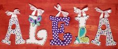 Inspired by NoJo Beautiful Butterfly Bedding - 5 Hand Painted Letters on etsy... love these!