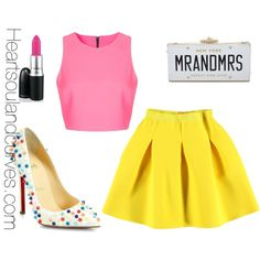 """""""Spring Color Blocking"""" by adoremycurves on Polyvore"""