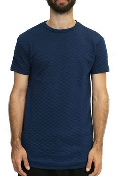 Elongated Quilted Tee in Dark Blue – Fashion X Freedom