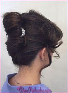 40 Stylish French Twist Updos Hairstyles - August 24 2019 at Hair Do For Medium Hair, Hairdo For Long Hair, Haircuts For Long Hair, Permed Hairstyles, Straight Hairstyles, Fall Hairstyles, Easy Hair, Medieval Hairstyles, Formal Hairstyles