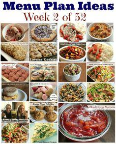 Weekly Meal Plan – Menu Plan Ideas Week 2 of 52
