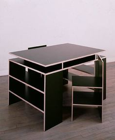 Donald Judd Desk and Chairs