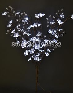 Led Acrylic Flower Branch Light 20 60led With 3v Adaptor Extra 3 Aa Battery Box Free Of Charge Standard