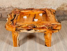 Yew coffee table by coffeetableshop on Etsy