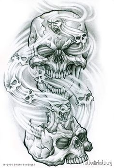 tattoo biomechanical skull - Google Search