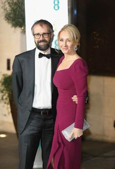 Harry Potter book series author, J. K. Rowling and Neil Murray at the official after party for the 70th EE British Academy Film Awards in February 2017..