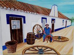 Santiago do Cacém  Quadro pintado a óleo
