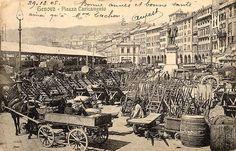 GENOVA - Piazza Caricamento nel 1905 - FOTO STORICHE CARTOLINE ANTICHE E RICORDI DELLA LIGURIA