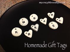 My Crazy Blessed Life: homemade gift tags - cornstarch, baking soda recipe and instructions