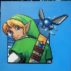 LoZ Link on canvas perler beads by Sulley45635 on deviantART