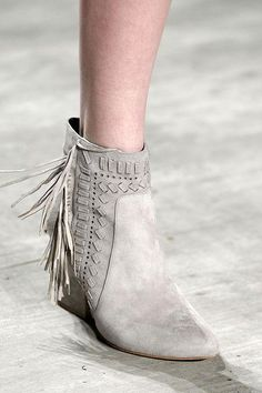 Fall 2015 shoe trends include fun, fringed boots - click to see all the season's best boots
