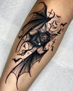 Skull Sleeve Tattoos, Sleeve Tattoos For Women, Body Art Tattoos, Bat Tattoos, Sweet Tattoos, Pretty Tattoos, Beautiful Tattoos, Amazing Tattoos, Unique Tattoos