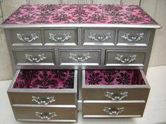 Large Elegant Vintage Wooden Jewelry Box by WendysVintageShop