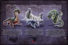 Monsters with their descriptions Curious Creatures, Weird Creatures, Fantasy Creatures, Mythical Creatures, Myths & Monsters, Cool Monsters, Sea Monsters, African Mythology, World Mythology
