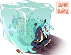DUNGEONS & DRAWINGS - GELATINOUS CUBE Gelatinous cubes are a subset of...