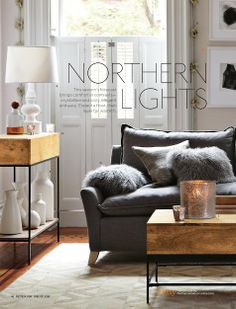 if you are going to have a dark gray couch you need white walls.