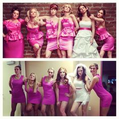 Bridesmaids costumes for the bachlorette party! Omg @Shelbi Jarosz Jarosz Jones @Lisa Phillips-Barton Phillips-Barton Wendling
