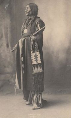 Cheyenne Chief Wolf Robe, 1898,  photographed by F. A. Rinehart.