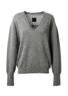 RTA Rta Grey Montaigne Market Cashmere Sweater. #rta #cloth #