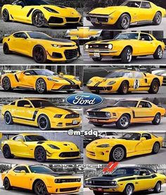 Chevrolet Ford and Dodge Exotic Sports Cars, Cool Sports Cars, Sport Cars, Cool Cars, Custom Muscle Cars, Custom Cars, Mustang Cars, Ford Mustang, Camaro Auto