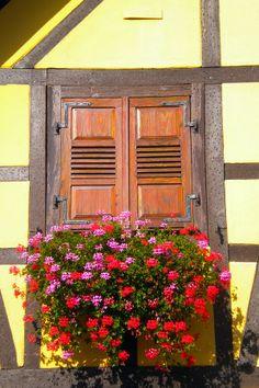 Flower Balcony in Stotzheim, Alsace France