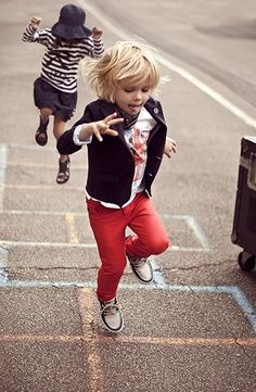 red trousers!