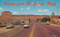 Great description of St. St George Utah, Saint George, Zion National Park, National Parks, Tourist Center, County Seat, Places Of Interest, Old Postcards, Heaven On Earth