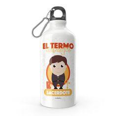 Termo - El termo del mejor sacerdote, encuentra este producto en nuestra tienda online y personalízalo con un nombre. Water Bottle, Drinks, Social, Priest, Carton Box, Store, Crates, Musica, Working Man