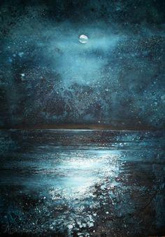 Full moon from the Daymark ~~ by Stewart Edmondson