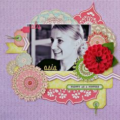 Wonderful My Creative Scrapbook July LE kit, full of beautiful Webster's Girl Land goodies and Prima flowers. I think you'll like this kit very much!!!