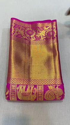 Kanjivaram Sarees Silk, Kanchipuram Saree, Soft Silk Sarees, Cotton Saree, Wedding Silk Saree, Bridal Sarees, Saree Design Patterns, Indian Dress Up, Silk Sarees With Price