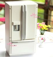 Free Shipping~1:12 Dollhouse Miniatures Refrigerator w/ 2 doors for Doll House~Furniture For Doll