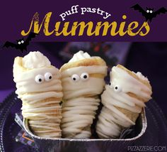 Puff Pastry Mummies for Halloween