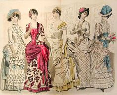 If I lived back then I wouldn't have needed a bustle, I have plenty of BUTTsle to go around. LOL