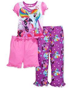Ame Toddler Girls' 3-Piece My Little Pony Pajamas