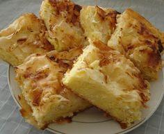 Gibanica (cheese pie) Love to make it, and eat it too Albanian Recipes, Bosnian Recipes, Croatian Recipes, Turkish Recipes, Gibanica Recipe, Pizza Pastry, Macedonian Food, International Recipes, Food Inspiration