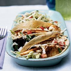Superfast Fish Recipes | Fish Tacos with Cabbage Slaw | CookingLight.com - had this for dinner tonight. Its a keeper!